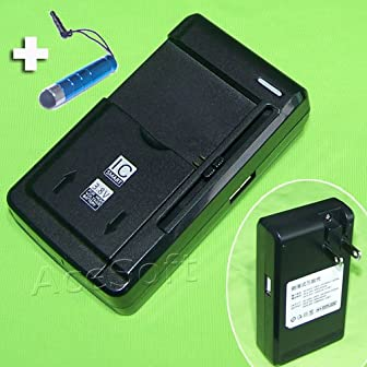 Universal Li-ion battery external desktop Charger for smartphones :   * This universal delstop battery charger will charge virtually any smartphone Li-on batteries in the market.   Instruction:   * To Charge a li-on battery, allow the 2 metal...