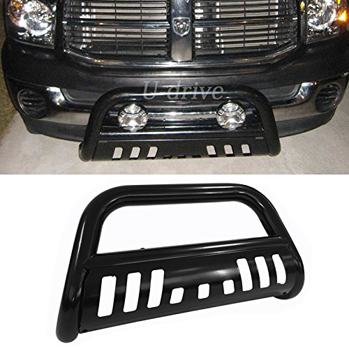 Bull Bar Skid Plate Front Push Bumper Grille Guard Black Steel for Dodge Ram 2002-2005 1500 2003-2009 2500/3500 Pickup (Grille Guard Dodge compare prices)