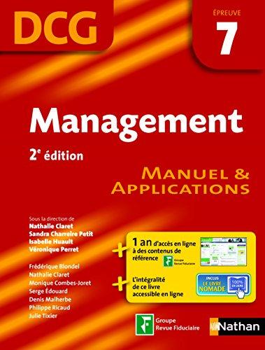 Management - épreuve 7 - DCG manuel