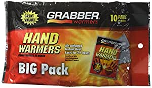 Grabber Hand Warmers - 10 Pairs HWPP10