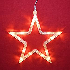 LED Fensterlicht Fensterbild Stern Weihnachtsdeko