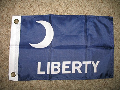 Liberty Ft Moultrie 12X18 Boat Motorcycle Car Flag Banner Indoor/Outdoor