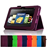 "Fintie (Purple) Slim Fit Leather Case Cover Auto Sleep/Wake for Kindle Fire HD 8.9"" Inch Tablet- 8 colors options"