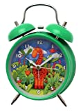 Alarm clock in green with Giraffe design - battery operated