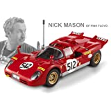 Ferrari 512 S Nick Mason of Pink Floyd by Mattel Elite in 1:18 Scale by Mattel