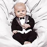 ipretty Baby Jungen Jumpsuit Gentleman Bodysuit Overalls Anzug 1tlg. Bekleidung Set Strampler Kinder Outfits