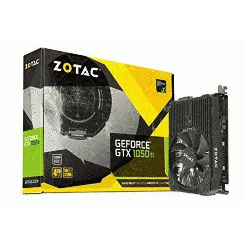 ZOTAC GeForce GTX 1050 Ti mini, 4GB GDDR5 DisplayPort, HDMI, Dual-Link DVI-I, Super Compact, Whisper Quiet, Game Ready Graphics Card (ZT-P10510A-10L)