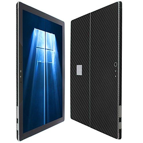 Skinomi TechSkin - Microsoft Surface Pro 4 Screen Protector + Carbon Fiber Full Body Skin / Front & Back Wrap Clear Film / Ultra HD & Anti-Bubble Invisible Shield (Skinomi Carbon compare prices)