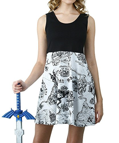 Legend of Zelda Hyrule Map Skater Tank Dress