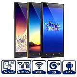5 Zoll Handy Android 4.2 MTK6572 1.2MHz Dual-Core Handys Dual SIM 512MB RAM 2.0/5.0 MP Kamera cellphone (Schwarz HD Touchscreen Smartphones ohne vertrag)