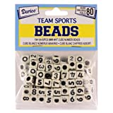 Number Beads, 6mm White Cube with Black Numbers, 80/pkg (Pack of 1)