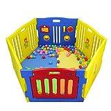 Parque de Bebes Ibaby Play Twin XL 6 Piezas.