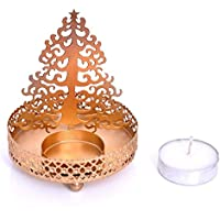 Odishabazaar Shadow Star Tree Tea Light Candle Holder For Home Decor