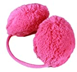 Glamour Girlz Adorable Lush Warm Fluffy Ladies Girls Fashion Behind the Head Ear Muffs - Available in White, Baby Pink, Hot Pink, Lilac, Grey, Brown, Sky Blue and Black - One Size - Great Christmas Gift Idea