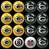 Green Bay Packers NFL Home vs. Away Billiard Balls Full Set (16 Ball Set) by Imperial International
