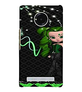 PrintVisa Cute Animated Girl Butterfly 3D Hard Polycarbonate Designer Back Case Cover for Yu Yunique