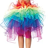 Finejo Women's Raver Rainbow Dancing Tutu Skirt