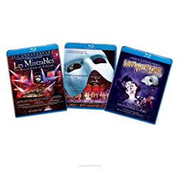 Musical 3 Pack (Les Miserables/The Phantom of the Opera/Andrew Lloyd Webber's Love Never Dies) [Blu-ray]