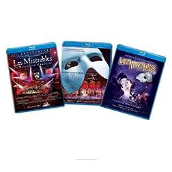 Musical 3 Pack (Les Miserables/The Phantom of the Opera/Andrew Lloyd Webber's Love Never Dies) [Blu-ray]