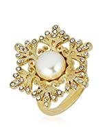 Art de France Anillo Snowflake (metal bañado en oro 24 ct / Blanco)