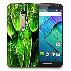 Snoogg Green Lemon Printed Protective Phone Back Case Cover For Motorola X Style