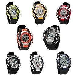 1PC Kid Fashion Digital Rainbow Wristwatch Electronic Sports Watch Waterproof from Jewelry DIY-for-LOVE