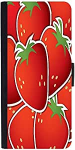 Snoogg Strawberry Sticker Background Card In Vector Format Graphic Snap On Ha...