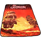 Disney Pirates Of the Caribbean Micro Fleece Deluxe Throw Blanket