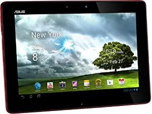 Asus Transformer Pad TF300TG 25,7 cm (10,1 Zoll) Convertible Tablet-PC (NVIDIA Tegra 3, 1,2GHz, 1GB RAM, 32GB eMMC, NVIDIA 12 Core, UMTS, Touchscreen, Android 4.0) rot