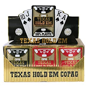 Copag Poker Cards | Texas Hold'Em 100% Plastic Jumbo Index Poker Size Picture