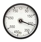 H-B Instrument Durac Bi-Metallic Surface Temperature Thermometer, with Double Magnet Mount, Plastic Construction and 50mm Aluminum Dial, 0 to 300 Degrees C