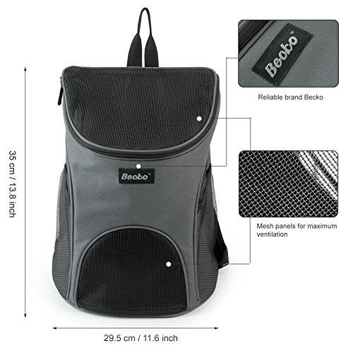 becko haustiertasche transporttasche rucksack f r. Black Bedroom Furniture Sets. Home Design Ideas