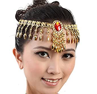 Women Belly Dance Accessories Necklace Hair Band