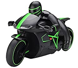 The Flyer's Bay High Speed Professional RC Motorcycle 2.4 GHz Bike with Built in Gyroscope & Bright LED Headlights ( Best Operated in Larger Area) (Green)