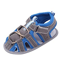 Weixinbuy Infant Baby Boy Soft Soft Non-slip Velcro Walk Sandals SZ11