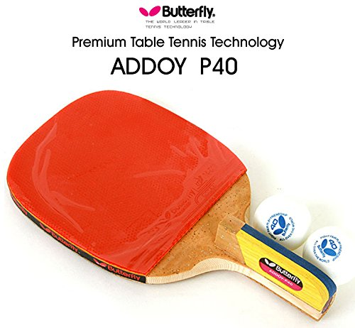 Premium Butterfly Addoy P40 Table Tennis Racket Penholder Paddle Ping Pong