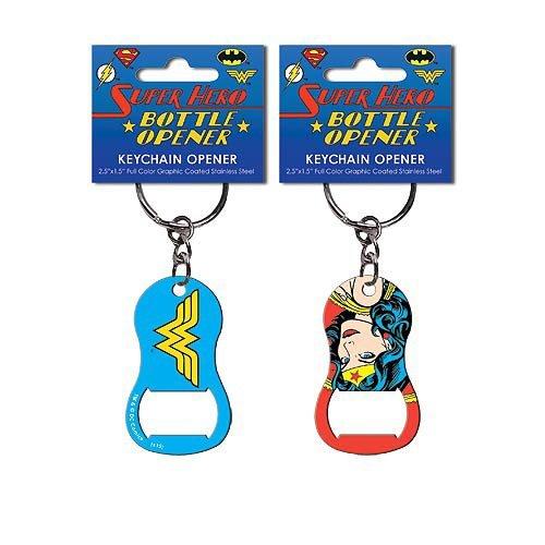 Wonder Woman Pop Art Key Chain Bottle Opener (Bottle Opener Keychain Women compare prices)