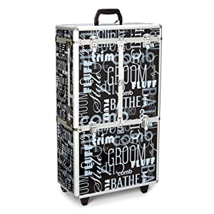 Top Performance Aluminum Extra Large Tool Case with Wheels, Graffiti Black