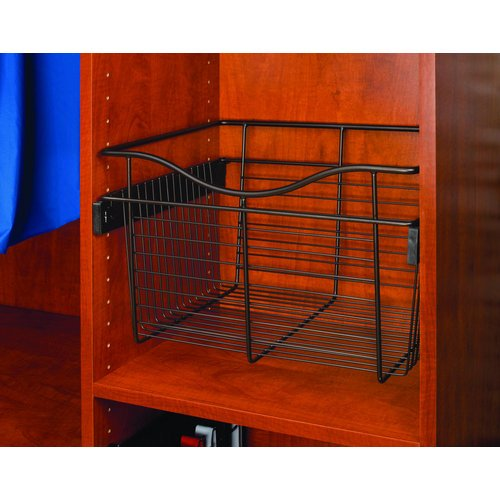Rev-A-Shelf Pull-Out Closet Basket 18W x 14D x 7H Oil Rubbed Bronze