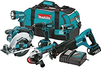 Makita XT601 18-volt LXT Lithium-Ion Cordless Combo Kit, 6-Piece