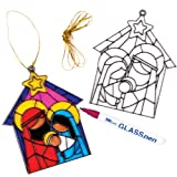 Nativity Suncatcher Decorations (Pack of 4)