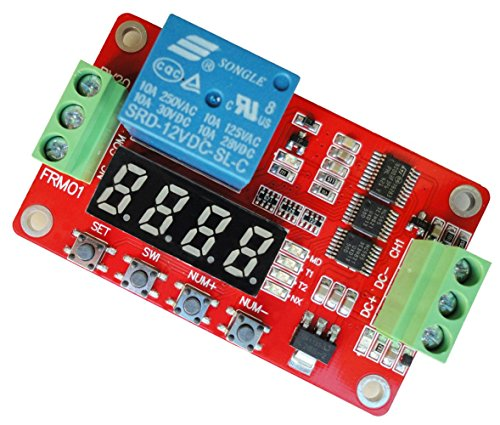 VvW 2014 Newer Version 12V Relay Cycle Timer Module – Programmable with Customized Settings (Increased to 18 Modes)