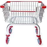 Coin Laundry Cart, CART&SUPPLY [Heavy Duty][Rolling Cart] Laundry Cart [Chrome]