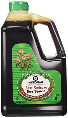 Kikkoman Lite Soy Sauce, 64-Ounce Bottle (Pack of 1) from Kikkoman