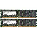 8GB KIT (2 x 4GB) For Dell PowerEdge Series 1800 1855 2800 2850 2970 SC1425 SC1435. DIMM DDR2 ECC Registered PC2-6400 800MHz RAM Memory. Genuine A-Tech Brand.
