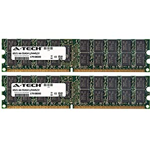 A-Tech 2GB KIT 2x 1GB For Intel SE Series SE6767AF2 SE6767BB2 SE6767BB2D2 SE6767BD2D2 SE6767JR2 SE7320EP2 SE7320VP2D2 SE7520AF2 . DIMM DDR2 ECC Registered 400MHz Single Rank RAM Memory