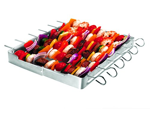 Lowest Price! Unicook Heavy Duty Stainless Steel Barbecue Skewer Shish Kabob Skewer Set,6 Pieces Ske...