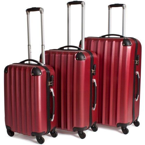 TecTake trolley valigia valigie set rigido borsa