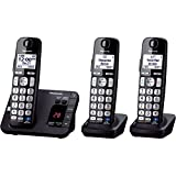 Panasonic KX-TGE233B DECT 6.0 Expandable Digital Cordless Answering System, 3 Handsets