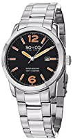 SO&CO York Men's 5011B.1 SoHo Analog Display Japanese Quartz Silver Watch from SO&CO New York